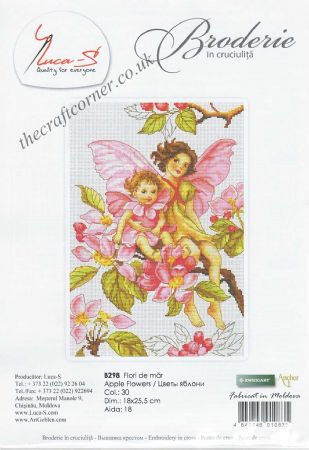 Apple Flower Fairy Counted Cross Stitch Kit From Luca-S (B298)